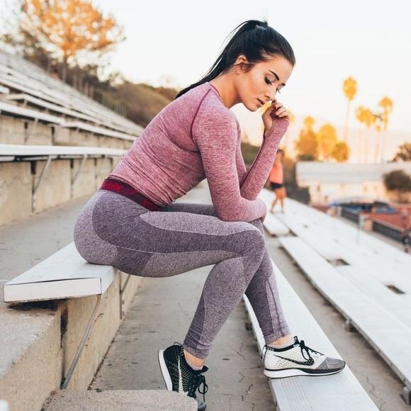 Purple Gymshark Flex Leggings